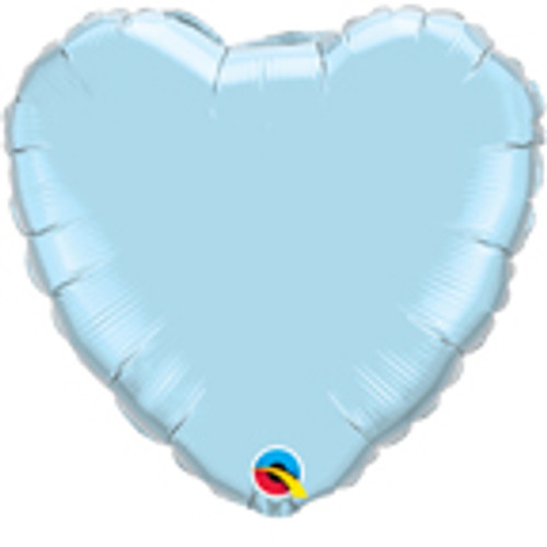 "36"" Pearl Light Blue Heart Foil Balloon"