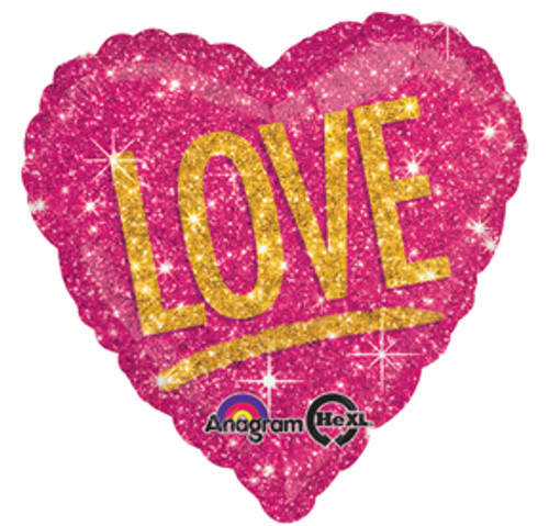 "17"" Love Shimmers Heart Balloon"