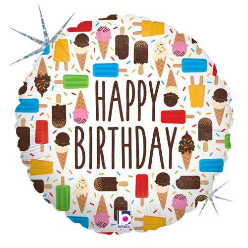 """18"""" Birthday Ice Cream Balloon"""