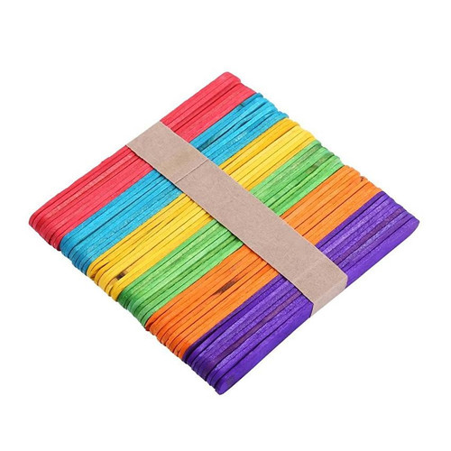 Colourful Wooden Ice Cream Craft Sticks