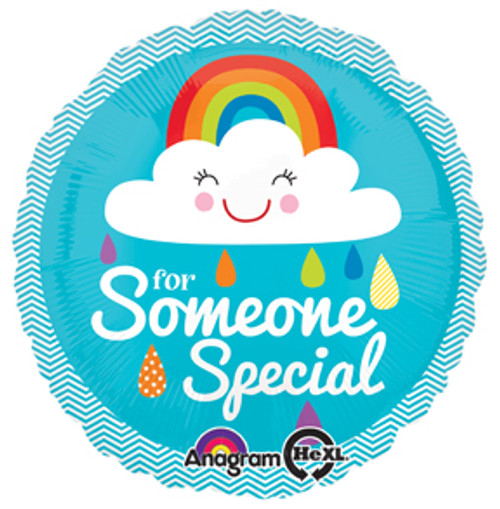"""17"""" Someone Special Rainbow Cloud Balloon"""