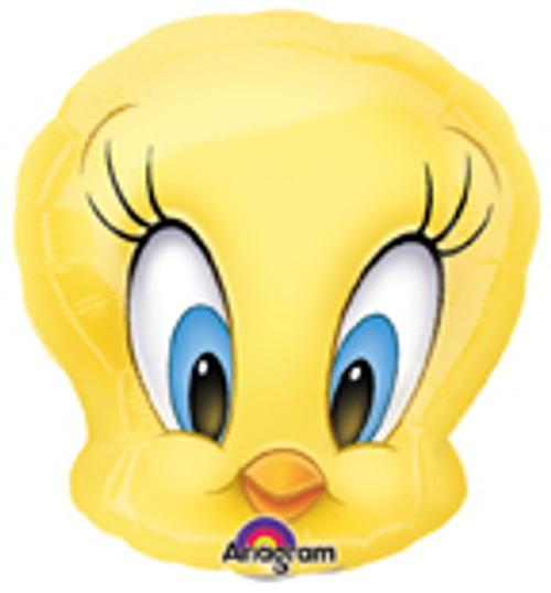 "14"" Tweety Head Mini Shape Air Filled Balloon"