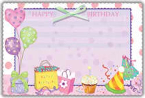 Birthday Cupcakes & Balloons Notecard
