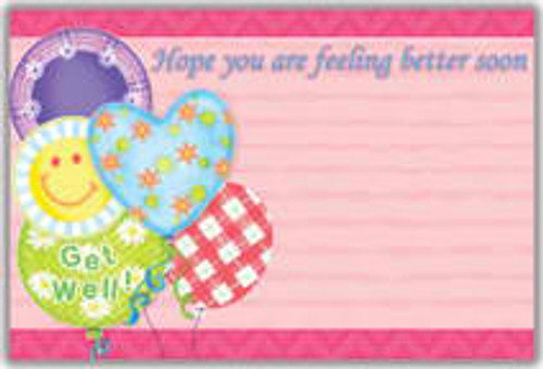 Get Well Balloons Notecard