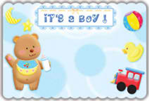 It's a Boy Teddy Notecard