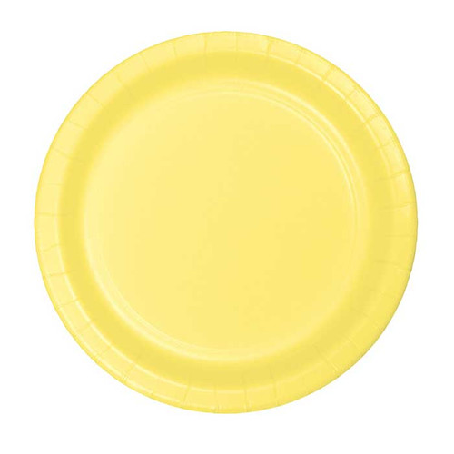 "Light Yellow 7"" Dessert Plates"