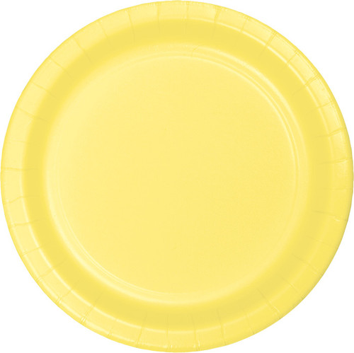 "Light Yellow 9"" Dinner Plates"
