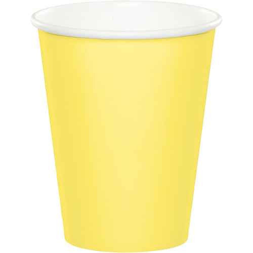 Light Yellow 9 Oz Hot/Cold Cup
