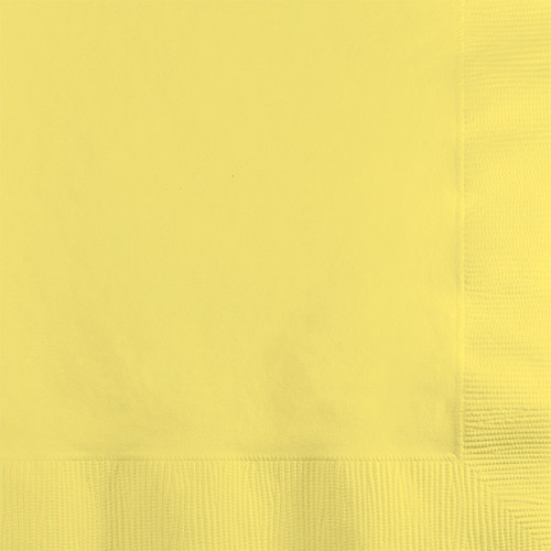 Light Yellow 2-Ply Beverage Napkins