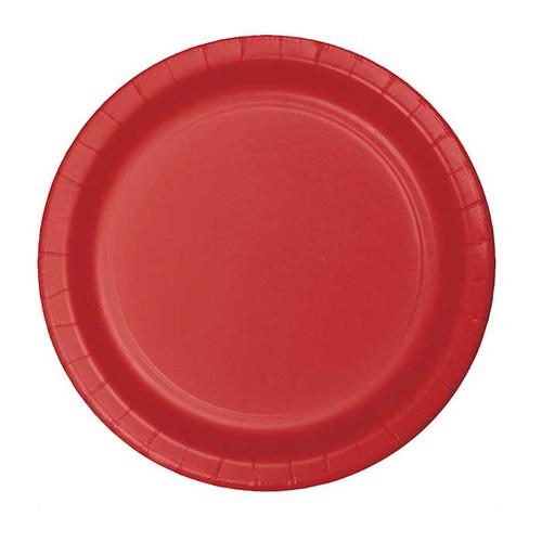 "Red 7"" Dessert Plates"