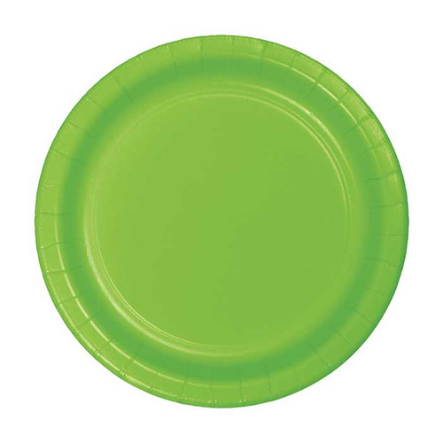 "Lime Green 7"" Dessert Plates"