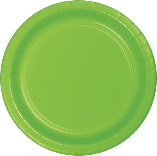 """Lime Green 9"""" Dinner Plates"""