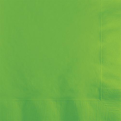 Lime Green 2-Ply Beverage Napkins