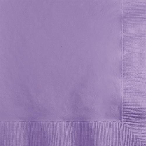 Lavender 2-Ply Beverage Napkins