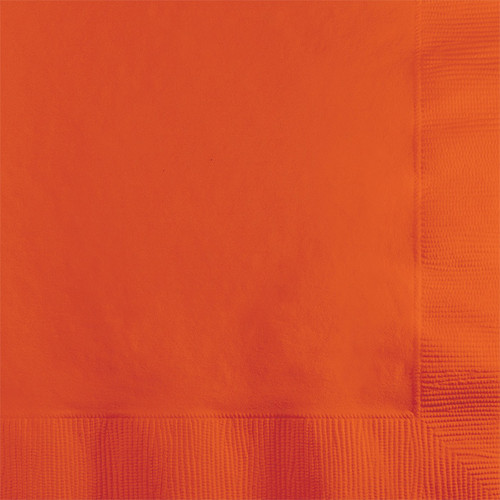 Orange 2-Ply Beverage Napkins