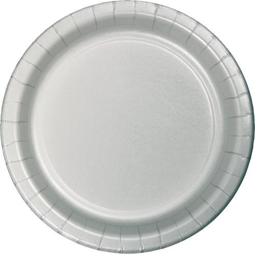 "Silver 9"" Dinner Plates"