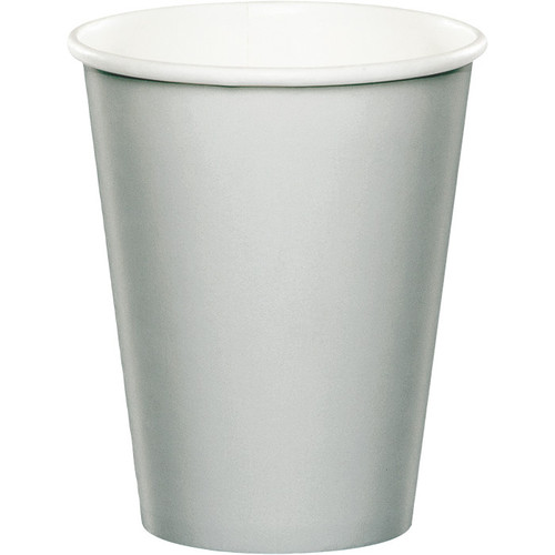 Silver 9 Oz Hot/Cold Cup