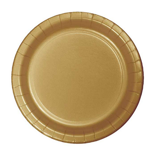 "Gold 7"" Dessert Plates"