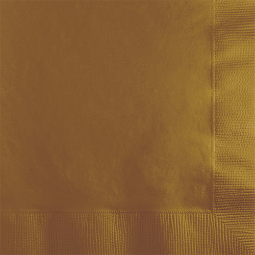 Gold 2-Ply Beverage Napkins