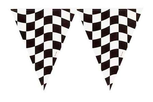Black & White Check Flag Banner