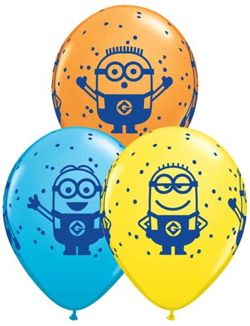 "11"" Minions Latex Balloon Assortment"