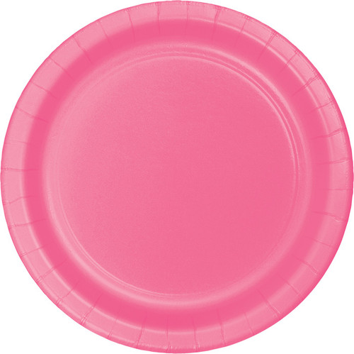 "Candy Pink 9"" Dinner Plates"