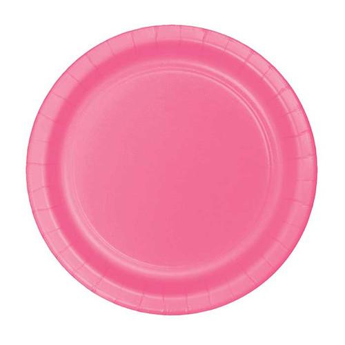 """Candy Pink 7"""" Dessert Plates"""