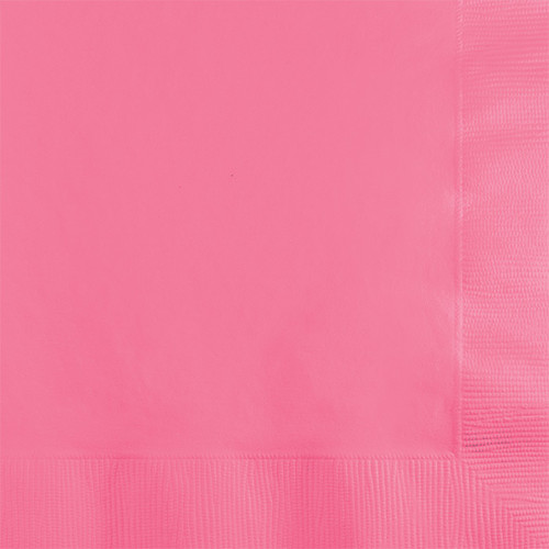 Candy Pink 2-Ply Beverage Napkins
