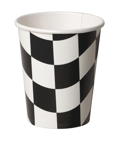Black & White Check 9 Oz Hot/Cold Cup