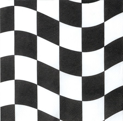 Black & White Check 2-Ply Beverage Napkins