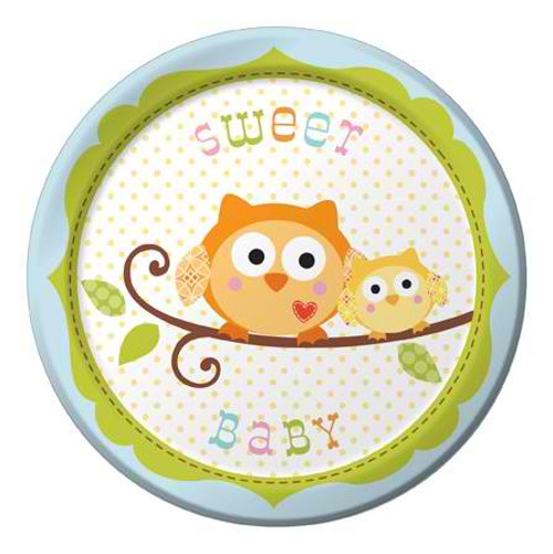 "Happi Tree Sweet Baby Boy 7"" Lunch Plates"