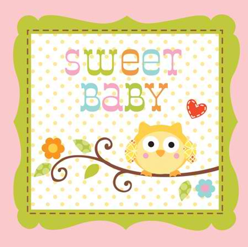 Happi Tree Sweet Baby Girl 3-Ply Beverage Napkins
