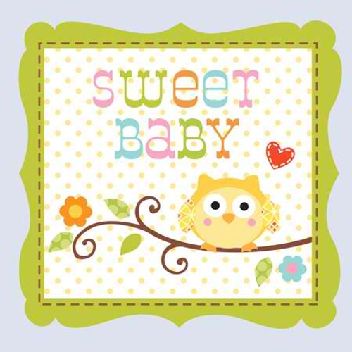 Happi Tree Sweet Baby Boy 3-Ply Beverage Napkins