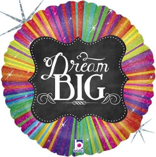 "18"" Chalkboard Dream Big Balloon"