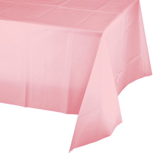 """Pink Plastic 54""""x 108"""" Tablecover"""