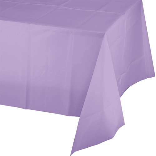 """Lavender Plastic 54""""x 108"""" Tablecover"""