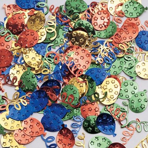 Balloon & Streamer Mix Shaped Confetti