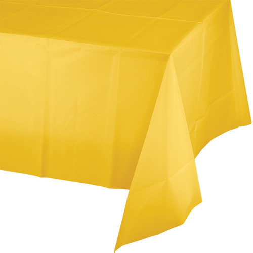 "Yellow Plastic 54""x 108"" Tablecover"