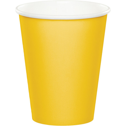 Yellow 9 Oz Hot/Cold Cup