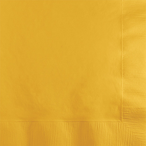Yellow 2-Ply Beverage Napkins