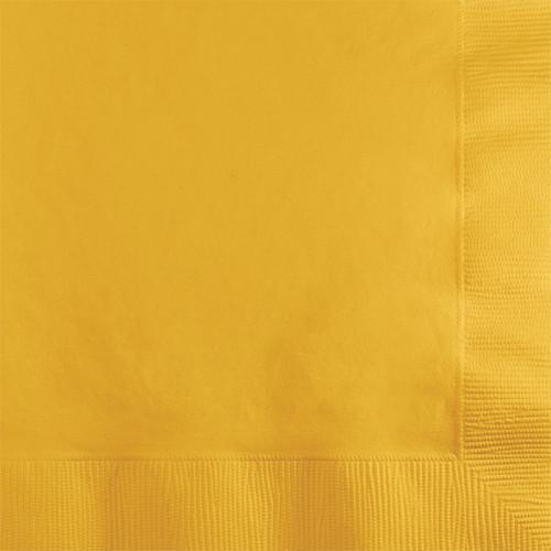 Yellow 2-Ply Beverage Napkins