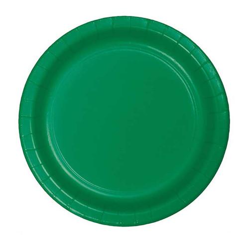 """Green 7"""" Dessert Plates"""