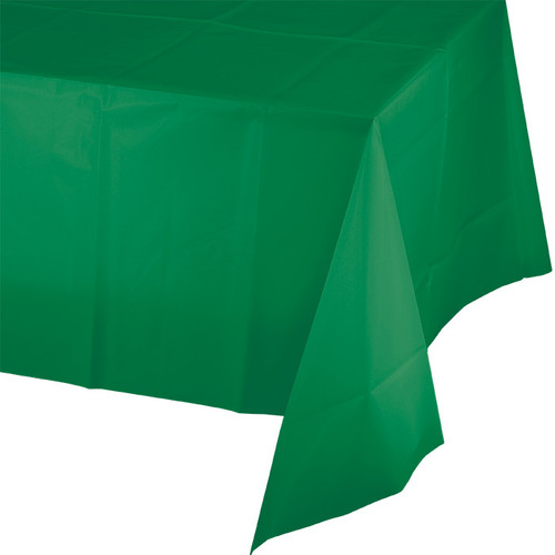 """Green Plastic 54""""x 108"""" Tablecover"""