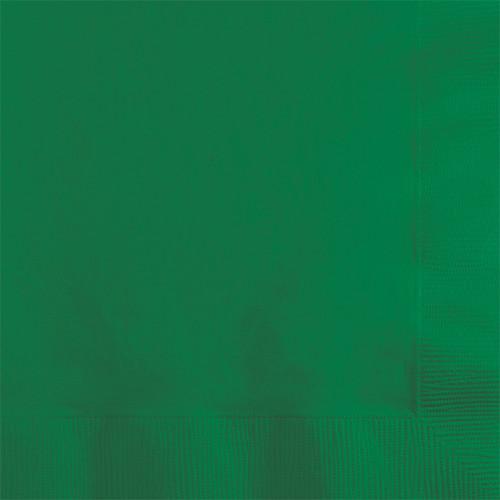 Green 2-Ply Beverage Napkins