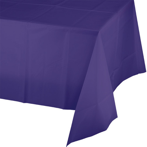"Purple Plastic 54""x 108"" Tablecover"
