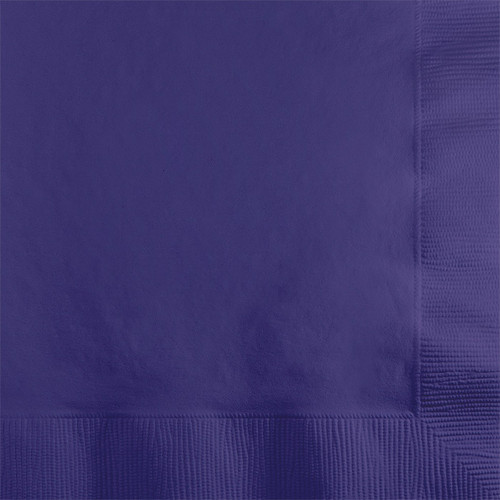 Purple 2-Ply Beverage Napkins
