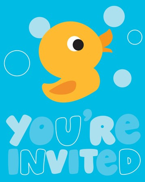 Rubber Ducky Invitation Cards & Envelopes