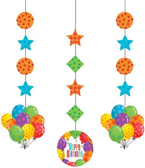 Balloon Patterns Hanging Cutout