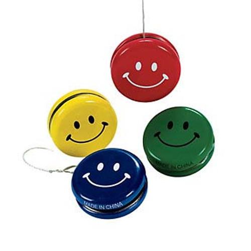 Smile Face Metal Yo Yo 12pcs/pack