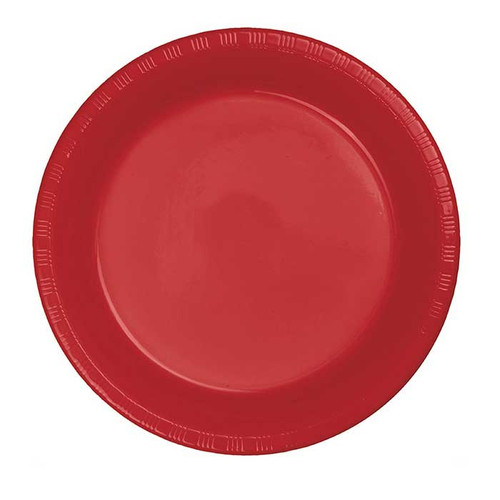 """Red 7"""" Plastic Lunch Plates"""